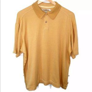 Tommy Bahama Mustard Silk Golf Polo Shirt